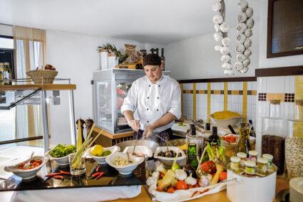 Live-Cooking auf der A-Rosa