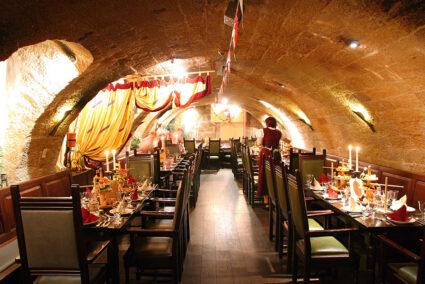 Gewölbekeller im Restaurant Sophienkeller in Dresden