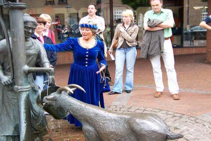 Stadtführung mit Burgfräulein durch Haselünne