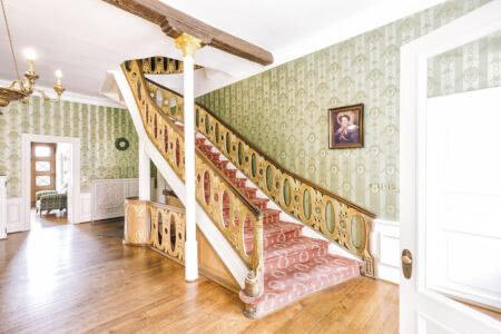 Historische Treppe im Burghotel Haselünne