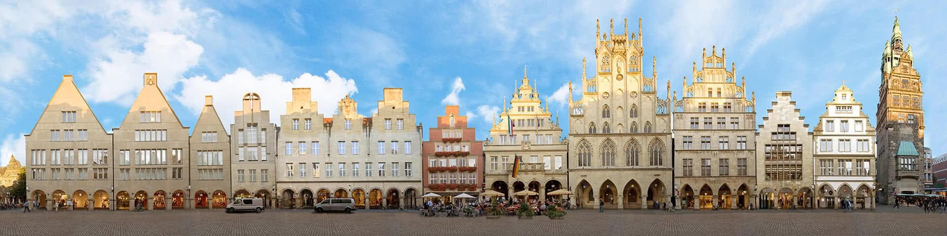 Panoramablick Prinzipalmarkt Münster