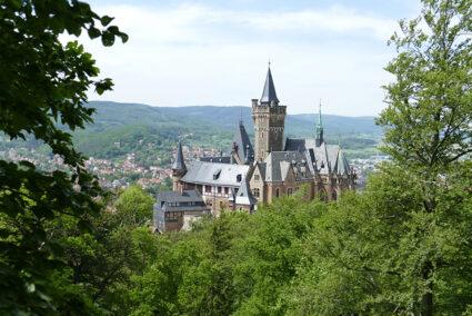 Blick auf den Wernigeröder Schloss
